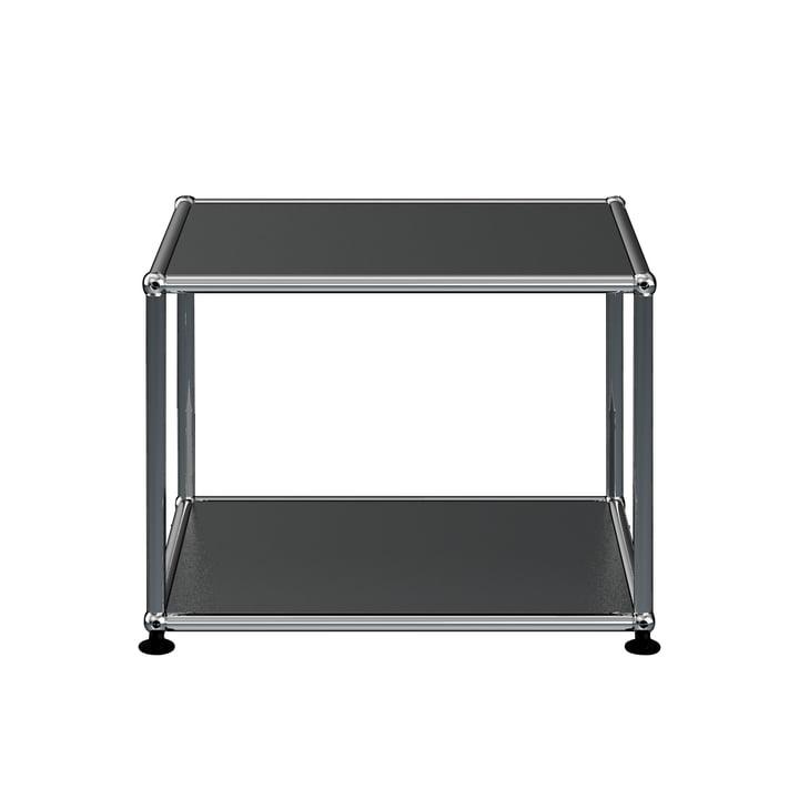 The USM Haller - Side Table, 52.3 x 52.3 cm, graphite black (RAL 9011)