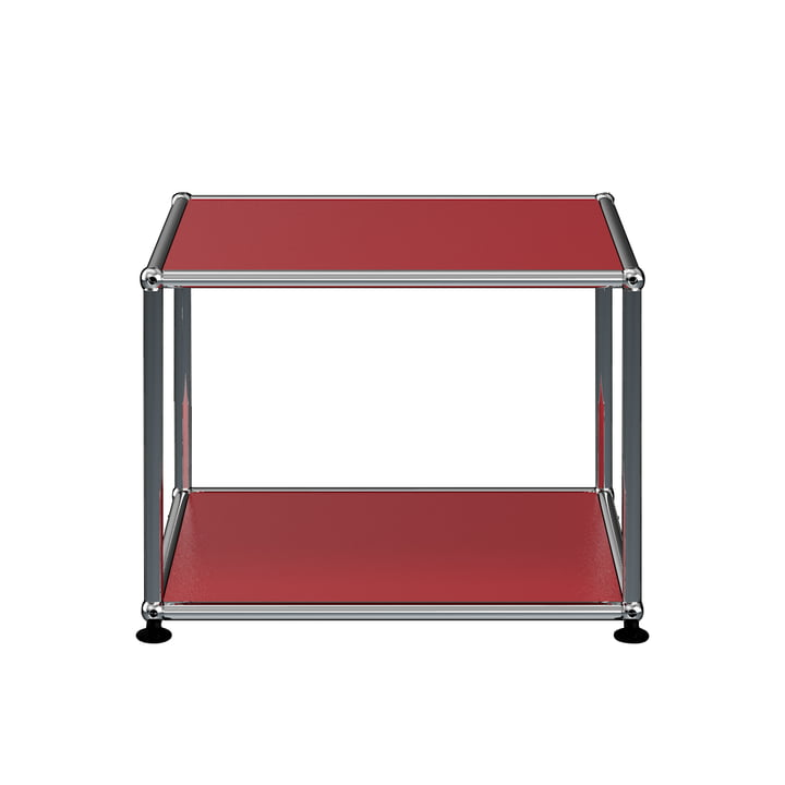 The USM Haller - Side Table, 52.3 x 52.3 cm, USM Ruby Red