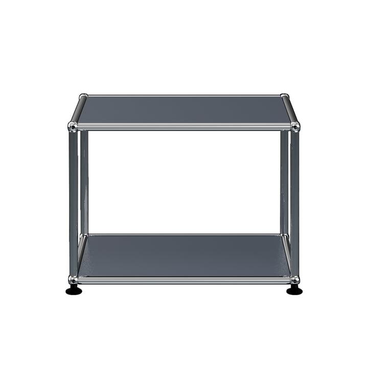 The USM Haller - Side Table, 52.3 x 41.8 cm, Anthracite Grey (RAL 7016)
