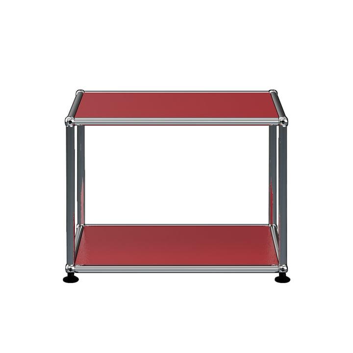 The USM Haller - Side Table, 52.3 x 41.8 cm, USM Ruby Red