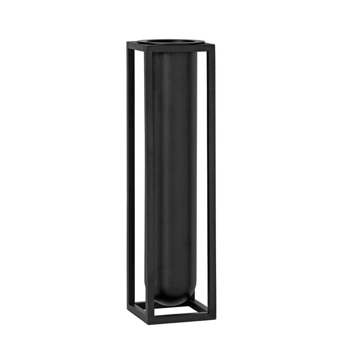 by Lassen - Kubus Vase Flora, black
