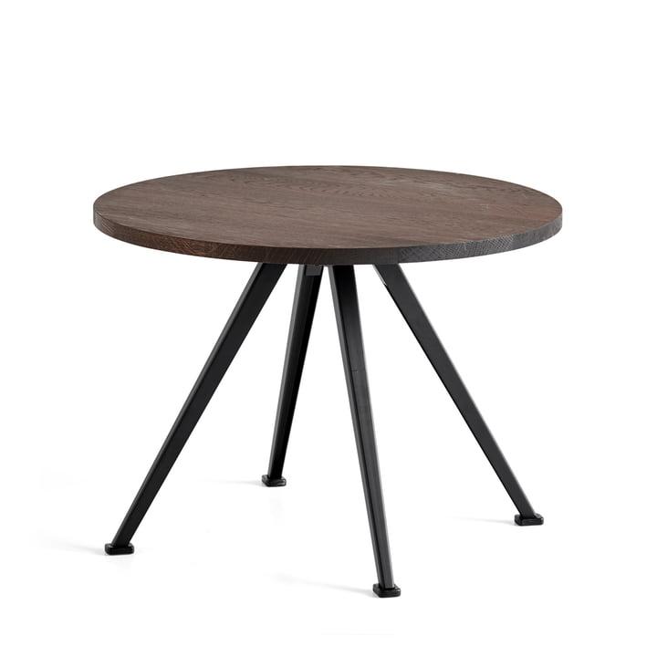 The Hay - Pyramid Coffee Table 51, Ø 60 cm, Smoked Oak / Black