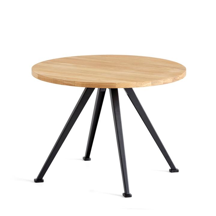 The Hay - Pyramid Coffee Table 51, Ø 60 cm, Matt Lacquered Oak / Black