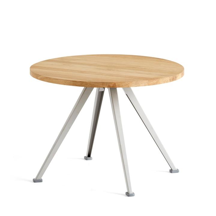 The Hay - Pyramid Coffee Table 51, Ø 60 cm, Matt Lacquered Oak / Beige
