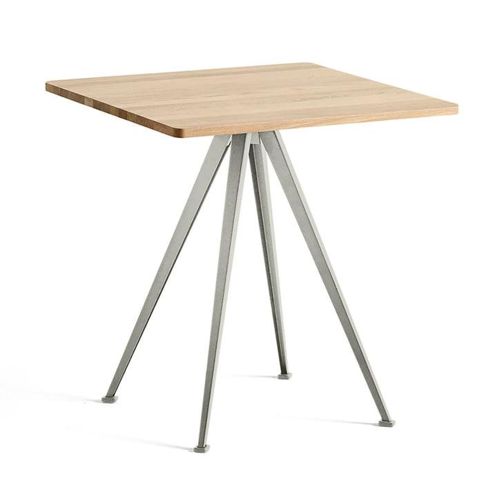 Hay - Pyramid Bistro Table 21, 70 x 70 cm, matt lacquered oak / beige