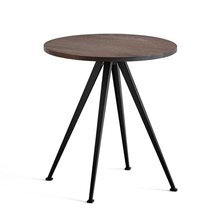 Hay - Pyramid Bistro Table 21, Ø 70 cm, Smoked Oak / Black