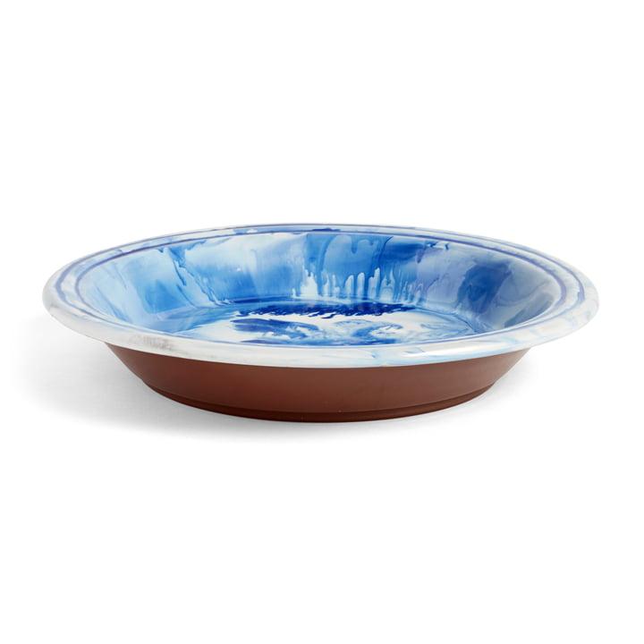 The Hay - Swirl Bowl, Ø 36 x H 6.5 cm, blue