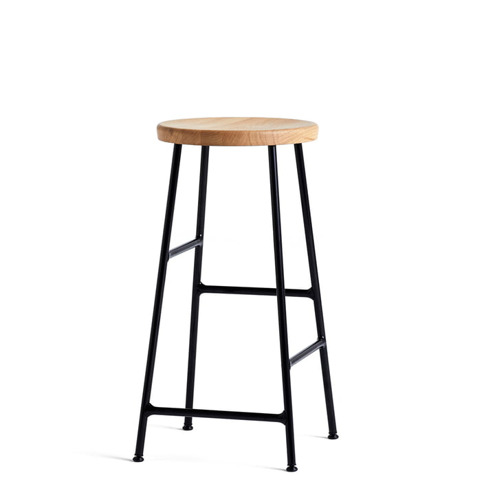 Cornet Bar Stool Low H 65 cm in Oiled Oak / Black