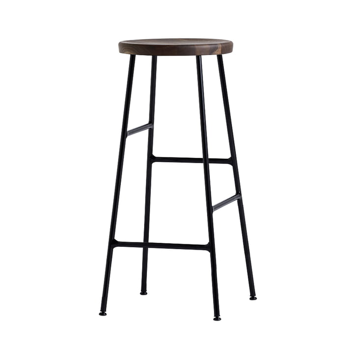 Cornet Bar Stool High H 75 cm by Hay in Smoked Oak / Black