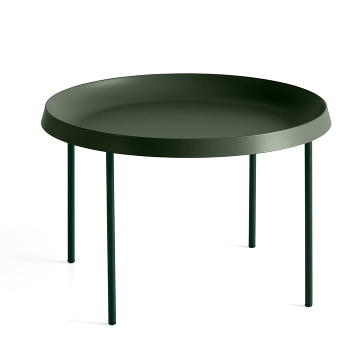 Hay - Tulou Side Table, Ø 55 x H 35 cm, matt green / dark moss green