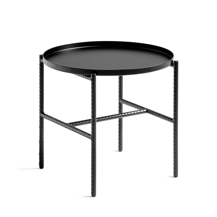 Rebar Side Table, Ø 45 x H 40.5 cm by Hay in Black