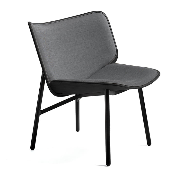 The Dapper Lounge Chair by Hay in Steelcut Trio 124 / Stained Oak / Black