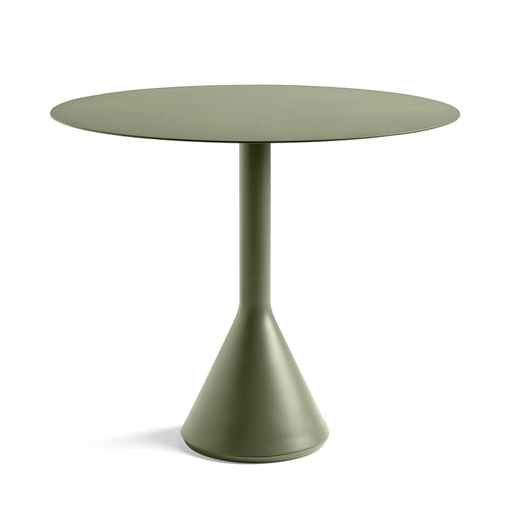 Palissade Cone Table Ø 90 x H 74 cm by Hay in Olive