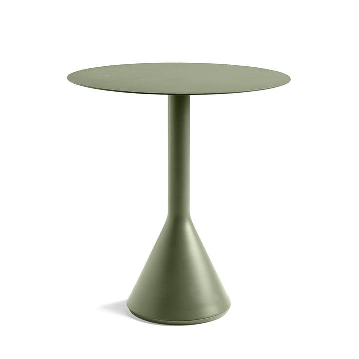 Palissade Cone Bistro Table Ø 70 x H 74 cm by Hay in Olive