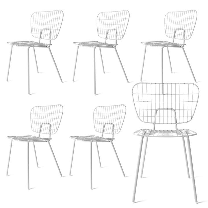 Buy 5, Get 1 Free: Menu - WM String Dining Chair, white