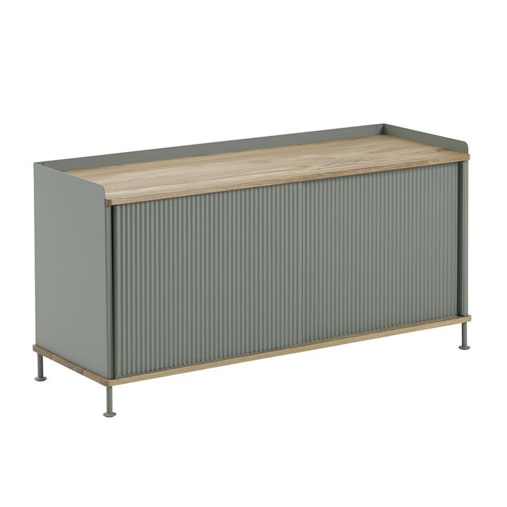 Enfold Sideboard by Muuto in Oak / Dusty Green