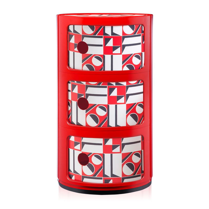 Componibili 4987 by Kartell in Red / Geometrico Rosso