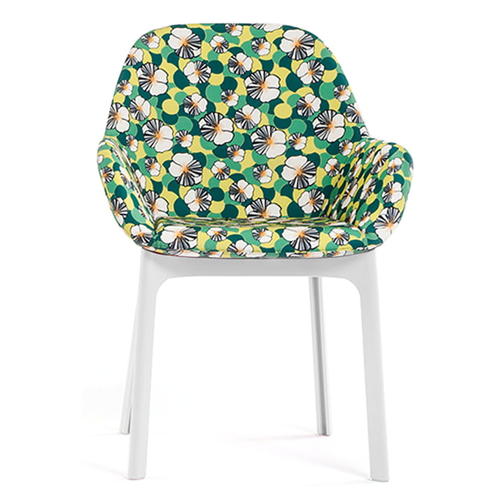Clap Chair 4182 by Kartell in White / Ninfea