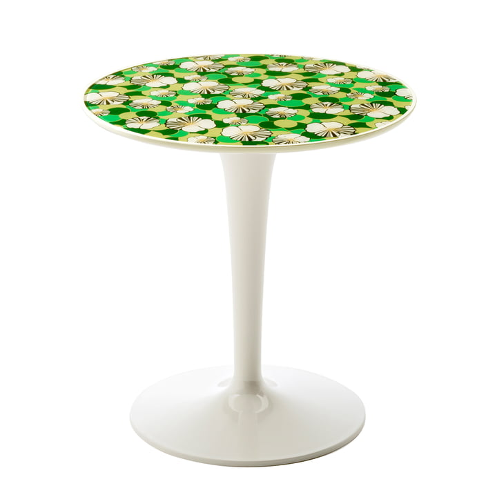 The Tip Top Side Table 8611 by Kartell with Ninfea Motif