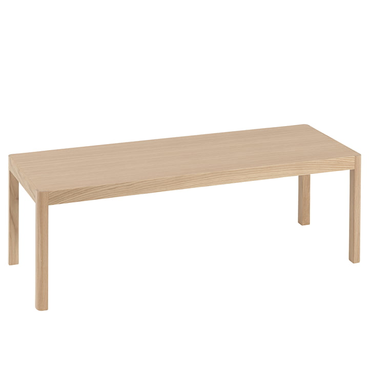 Workshop coffee table 120 x 43 cm from Muuto in oak