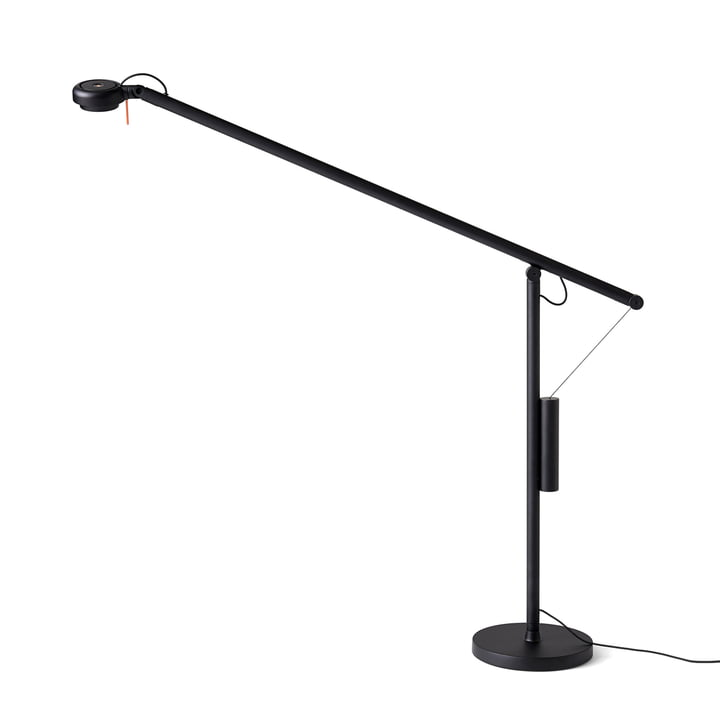 Hay - Fifty-Fifty LED Table Lamp, Signal Black (RAL 9004)