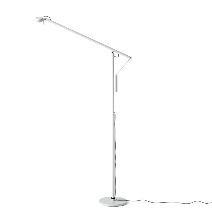 Hay - Fifty-Fifty Mini LED floor lamp, light grey (RAL 7035)