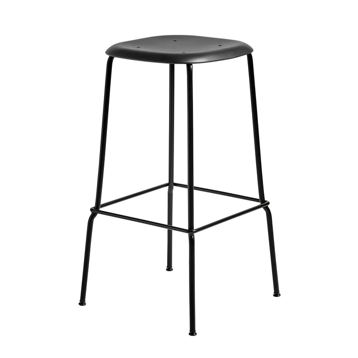 Soft Edge P30 Bar Stool H 75 in Black