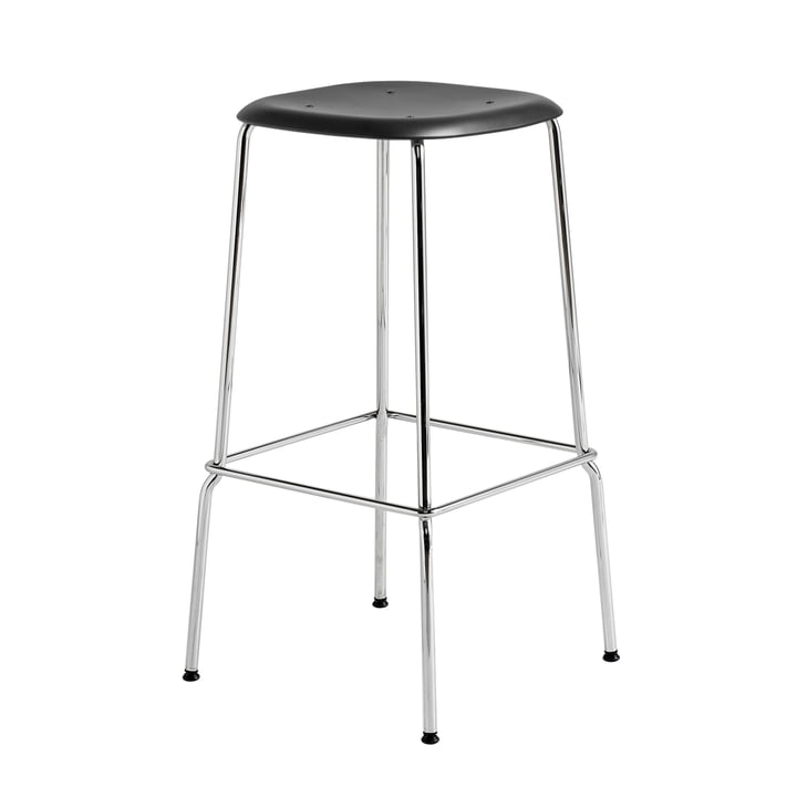 Soft Edge P30 Bar Stool H 75 in Chrome / Black