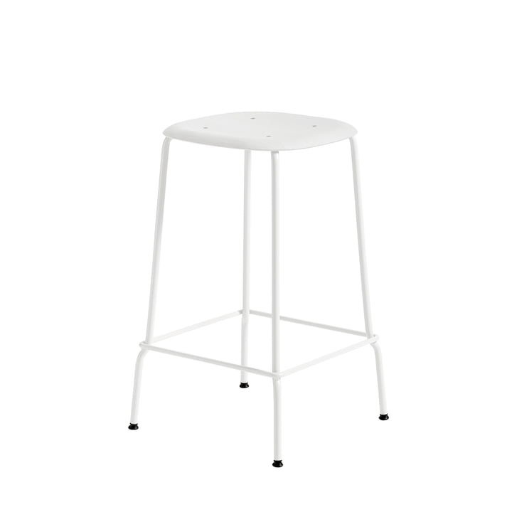 Soft Edge P30 Bar Stool H 65 in White