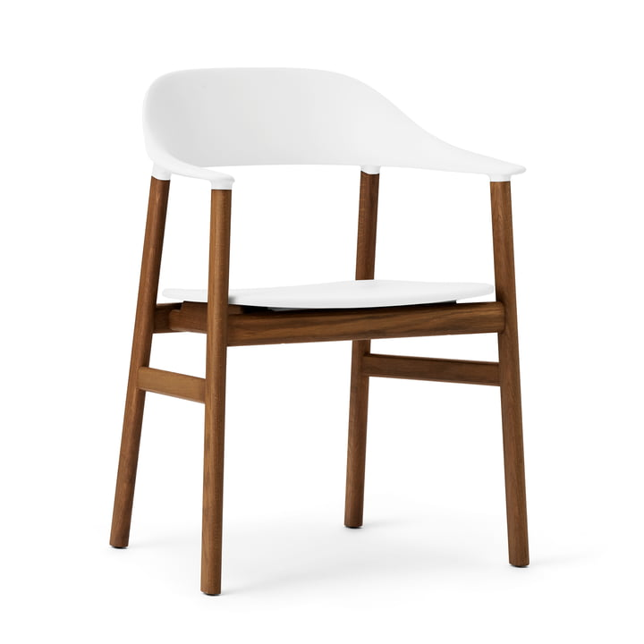 Normann Copenhagen - Herit Armchair, smoked oak / white