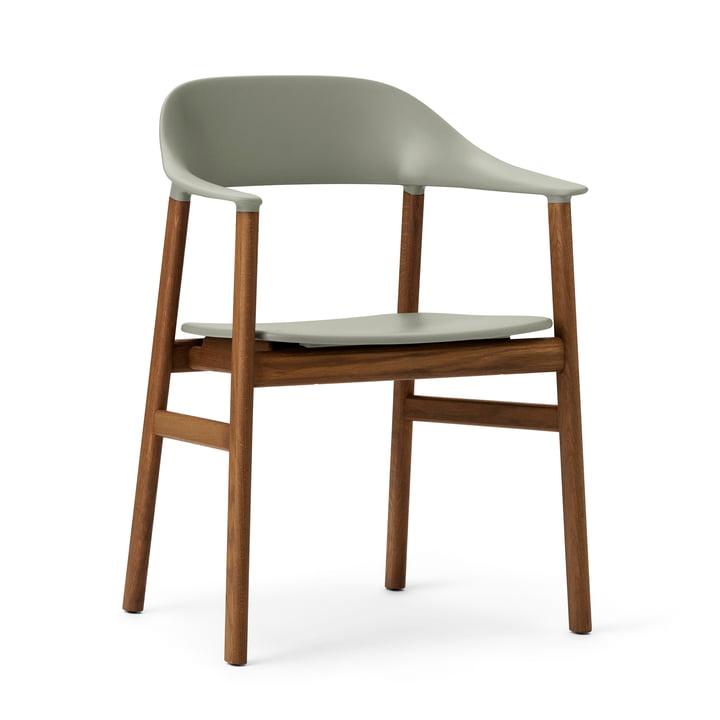 Normann Copenhagen - Herit Armchair, smoked oak / dusty green