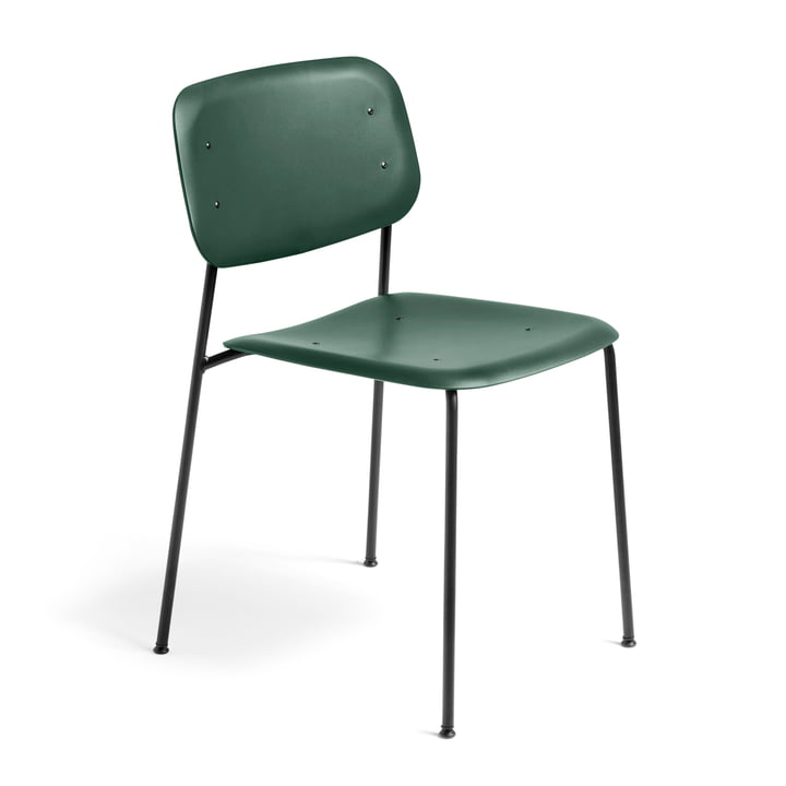 Hay - Soft Edge Chair P10 Chair, hunting green / black