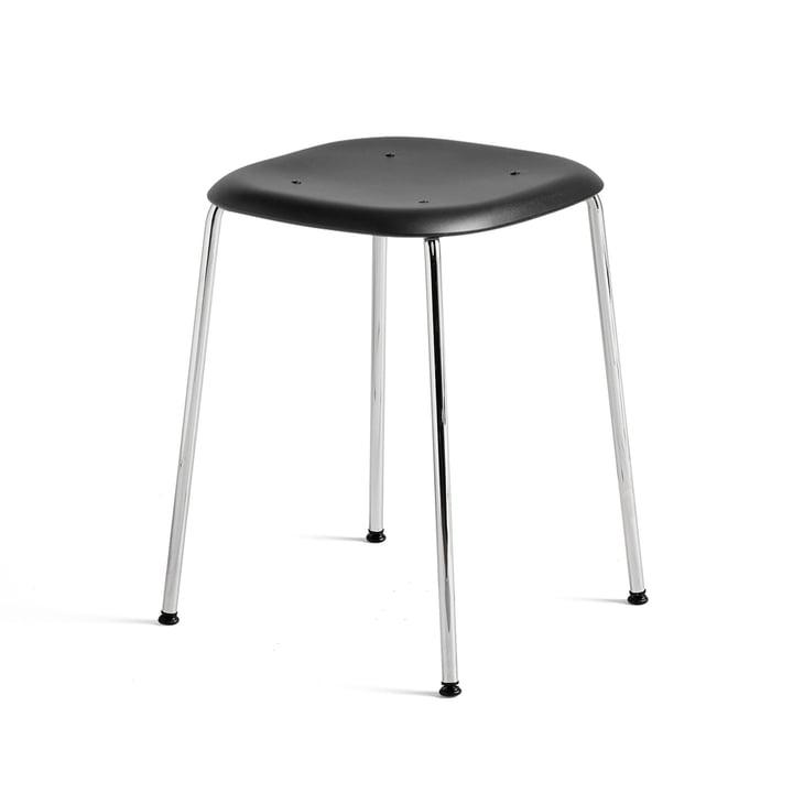 Soft Edge Chair P70 Stool in Chrome / Black