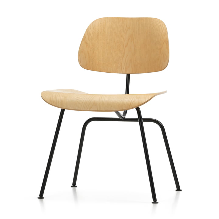 The Vitra - Plywood Group DCM in ash nature / basic dark