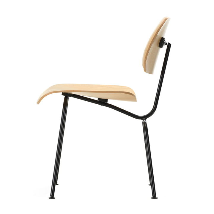 The Vitra - Plywood Group DCM Chair in Natural Ash / Basic Dark