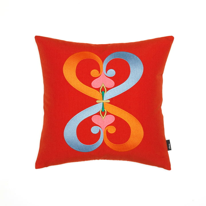 Vitra - Embroidered Cushion Double Heart, 40 x 40 cm in Red