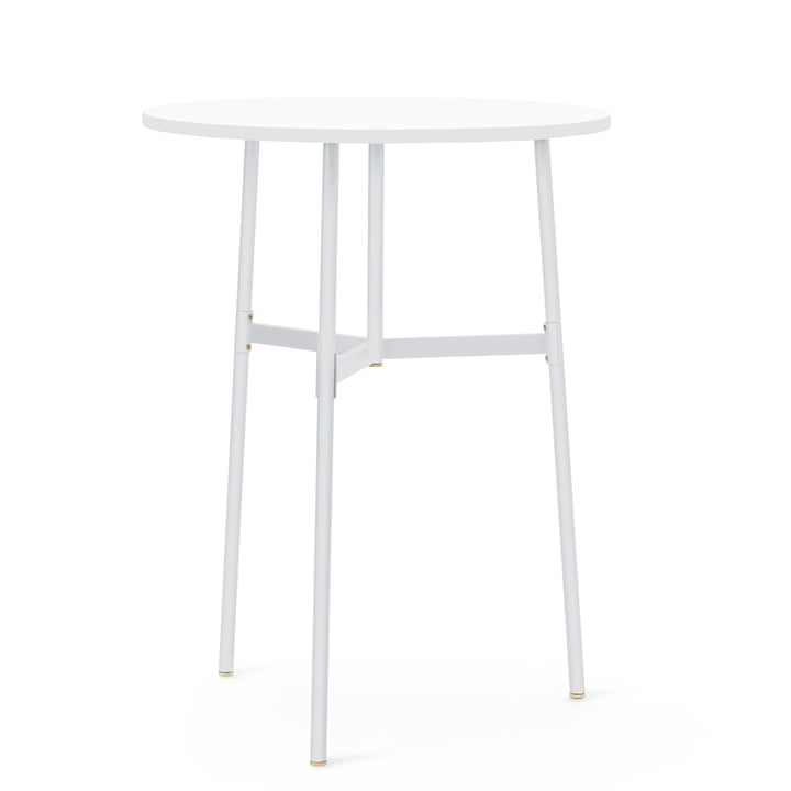 Normann Copenhagen - Union Bar Table, Ø 80 x H 105.5 cm, white
