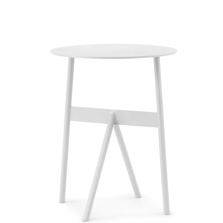 Normann Copenhagen - Stock Table, Ø 37 x H 46 cm, white
