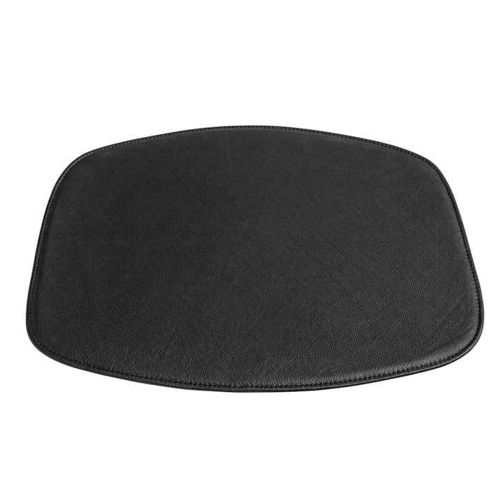 Hay - Seat Cushion for AAC Chair Without Armrests, black leather