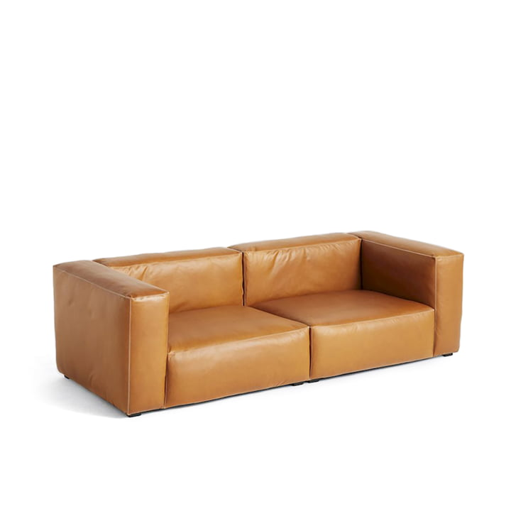 Hay - Mags Soft Sofa 2,5-seater, Combination 1, Leather Cognac (Sil0250)