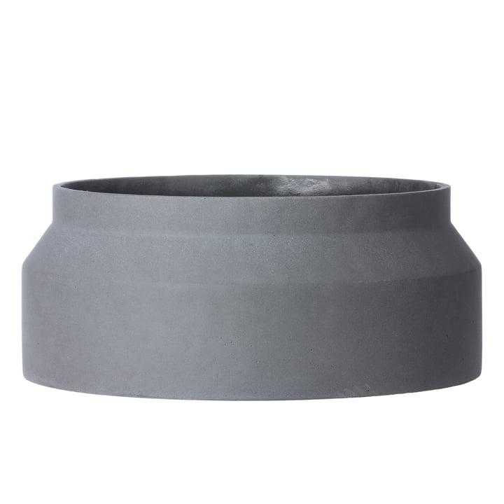 Ferm living - Flower Pot Ø 45 x H 19 cm, dark grey