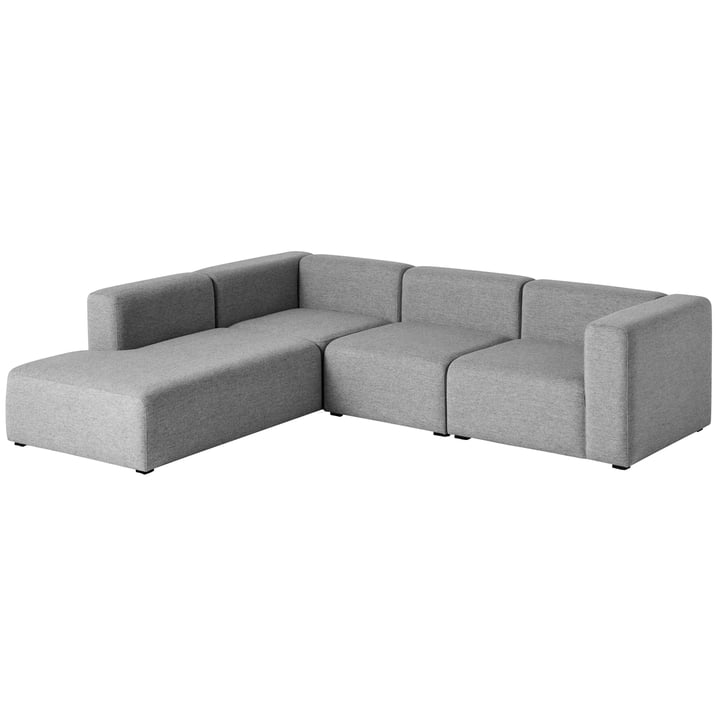 Hay - Mags Sofa, corner combination 2, left / grey (Hallingdal 116)