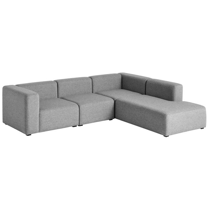 Hay - Mags Sofa, corner combination 2, right / grey (Hallingdal 116)