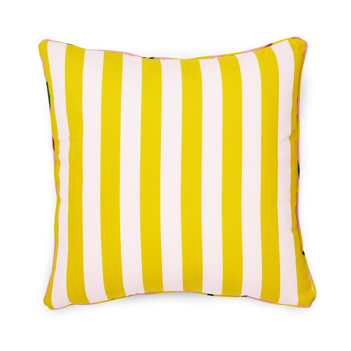 Normann Copenhagen - Posh Cushion 50 x 50 cm, Keep It Simple, Pale Pink / Lemon Curry
