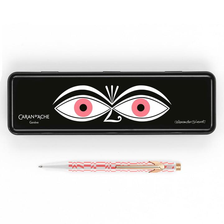 Vitra - Caran d'Ache 849 Alexander Girad ballpoint pen, Check Stripes pink, Eyes pink