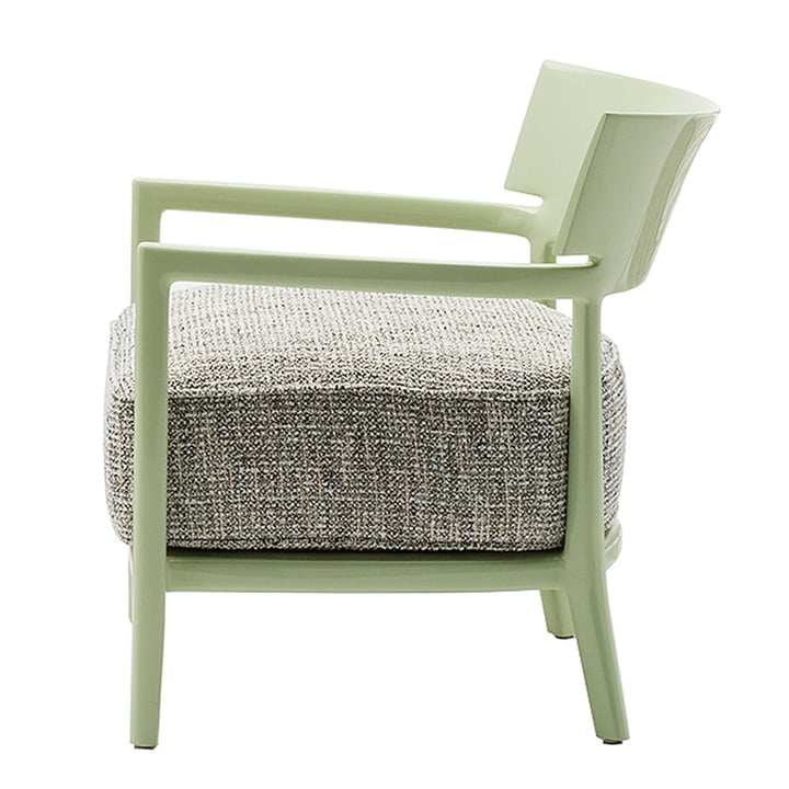 Kartell - Cara Armchair, Pale Green Frame / Green-Black Cover