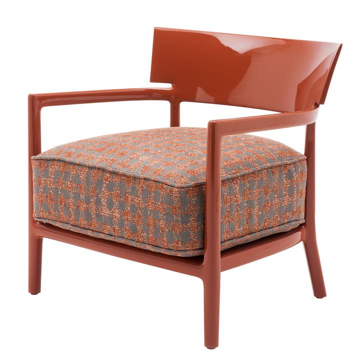 Kartell - Cara Armchair, Russet Brown Frame / Russet Brown-Beige Cover