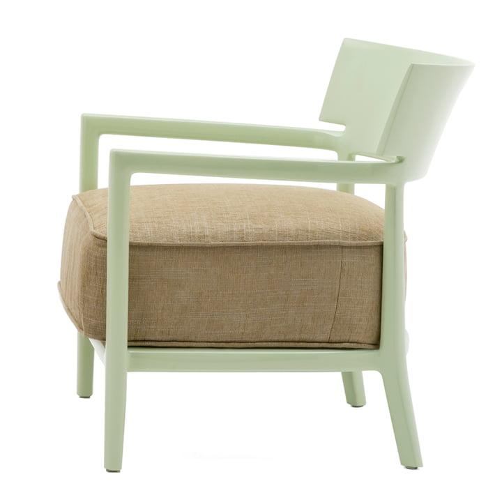 Kartell - Cara Armchair, Pale Green Frame / Green Cover