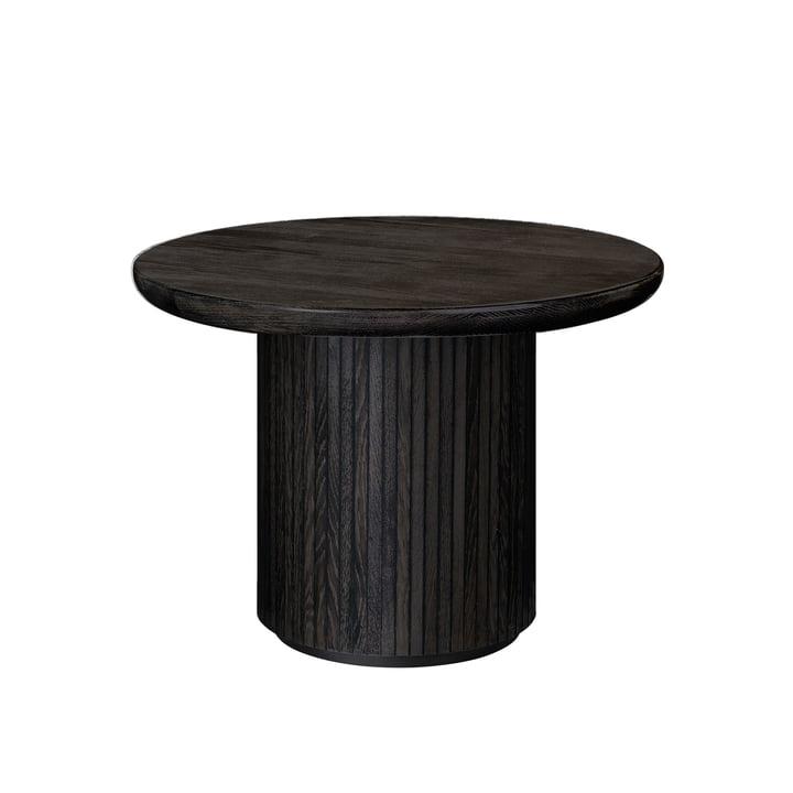 Gubi - Moon Coffee Table, Ø 60 x H 45 cm, black / brown stained oak veneer