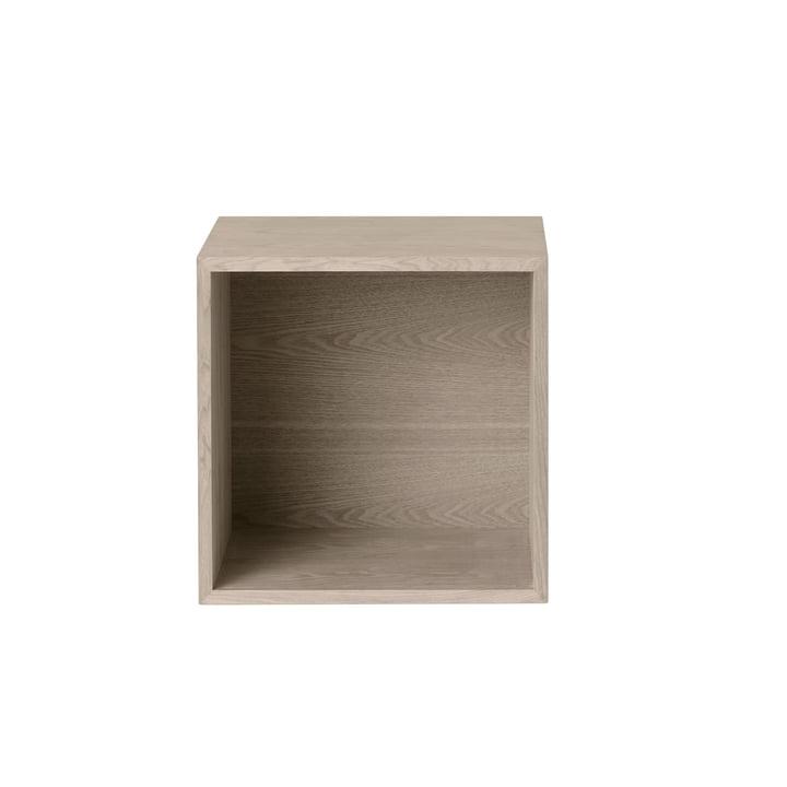 Muuto - Stacked shelf module 2. 0 with rear panel, medium / oak